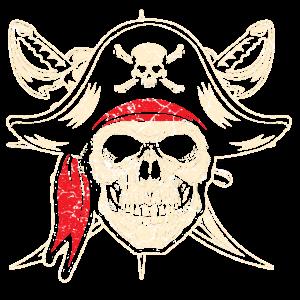 Pirat Kapitän Schiff Karibik Totenkopf Skull