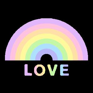 Love Geschenkidee Rainbow Pastell pride