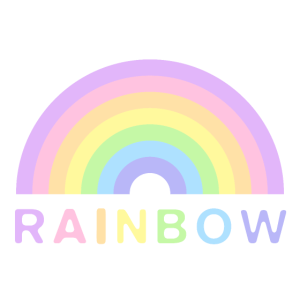 Rainbow Pastell Geschenkidee