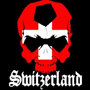 Schweizer Totenkopf Geschenk Heimat Sport
