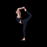 Yoga, Frau, Übung, Zeichnung, Comic