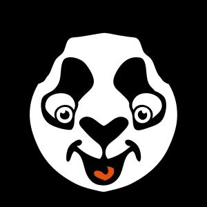 Panda Tierzeichnung lustig 511