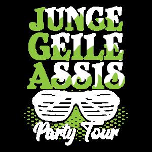 Partytour-Shirt Feier Freunde Urlaub - Geschenk