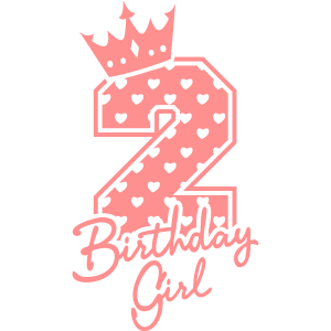 Zweiter Geburtstag-Second Birthday-Birthday Girl