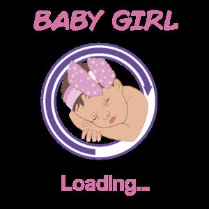 Baby Girl is Loading Geschenkidee für Baby Shower