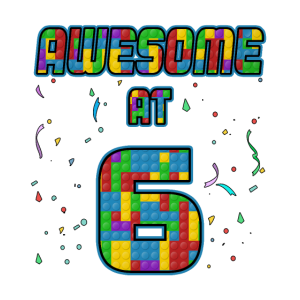 6. Geburtstag Geschenk 6 Jahren Ziegel Steine