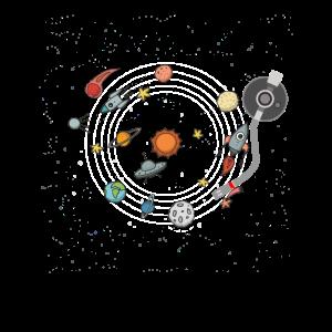 Sonnensystem Schallplattenspieler