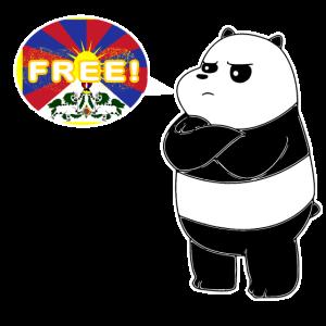 Free Tibet China Unterdrückung Protest Fahne