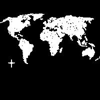 dira Weltkarte (Punkte - weiß) Map Reisen Travel
