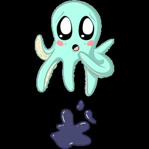 Tintenfisch Oktopus Tinte süßes tierchen Geschenk