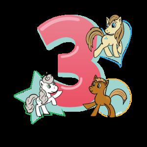 Geburtstag 3 Jahre Pferd, Pony T-Shirt Drei
