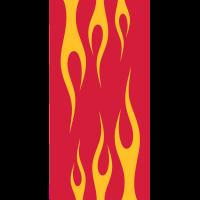 flammenden Notebook-Hülle