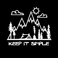 Keep it simple. Outdoor Zelten Camping Wildniss