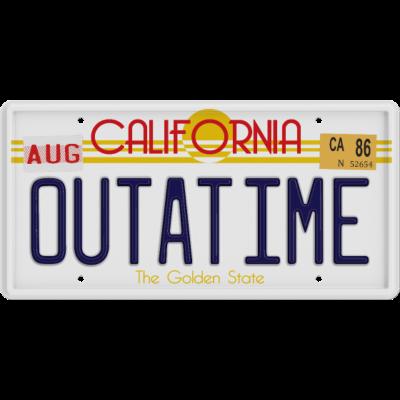 Outatime - Das Kennzeichen des DeLorean im Film Zurück in die Zukunft. - Zurück in die Zukunft,Zeitreise,Zeitmaschine,Vintage,Kino,Geek