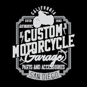Vintage Motorrad Kalifornien Geschenkidee
