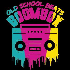 Boombox Ghettoblaster 90er Geschenk Retro