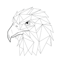 Vogel Bird Adler Geometrie Dreiecke