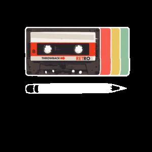 Vintage Retro Mixtape Kassette und Bleistift