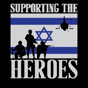 Unterstützung des heldenhaften israelischen Geschenk-T-Shirts