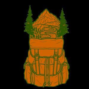 Wanderer - Rucksack Natur Freiheit Urlaub Backpack