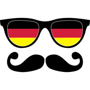 german mustache glasses nerd - like a sir