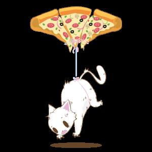 Pepperoni Pizza Katzen Ballon T-Shirt