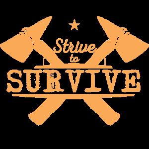 Camping Survival wandern Wanderer Geschenk Idee