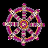 Motiv ~ Dharmarad, Chakra, buddhistisches Glückssymbol