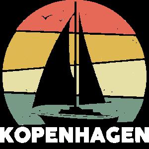 Kopenhagen Segelboot Schiff Retro Dänemark Cooles