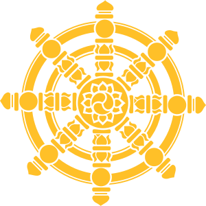 Dharma Rad, Glückssymbol, Buddhismus, Chakra, Yoga