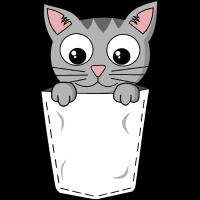 Katze Brusttaschen Mietze Pocket Cat