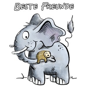 Beste Freunde Elefant und Faultier I Geschenk