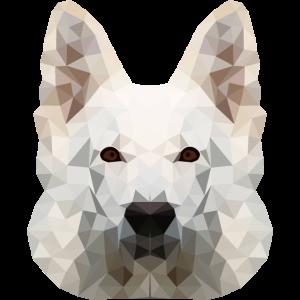 Weißer Schäferhund Berger Blanc Geschenkidee 3d