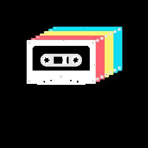 Kassette Kasetten Retro Audiokassette