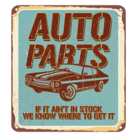 Classic Auto Parts Retro Design