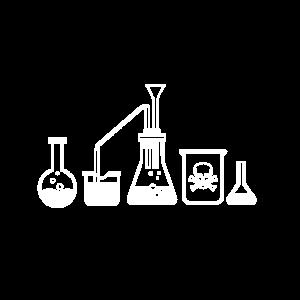 Chemie Gefäße Chemiker Gift Reaktion Nerd Geschenk