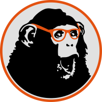 Nerdy Ape with Glasses