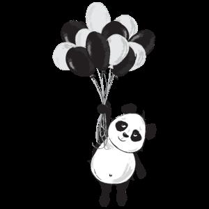 Panda luftballon fliegen