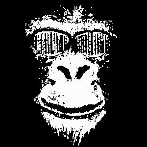 Gorilla Mann als lustiges Geschenk