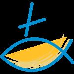 Altkatholischer Logo Fisch Blau/Gelb