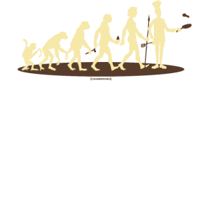 BBQ - Evolution Koch vom Affen zum Chef-Koch