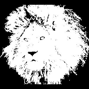 Löwe Löwenkopf Porträt Löwenmähne Geschenk
