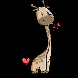 Giraffe Mädchen mit Herzen