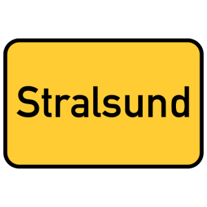 Straßenschild - Stralsund - Ortsschild