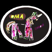 einhorn oma Original-Kinderzeichnung