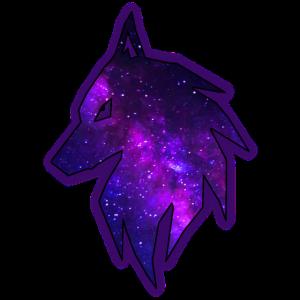 Wolf mit Sternen