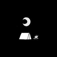 Zelten und Lagerfeuer
