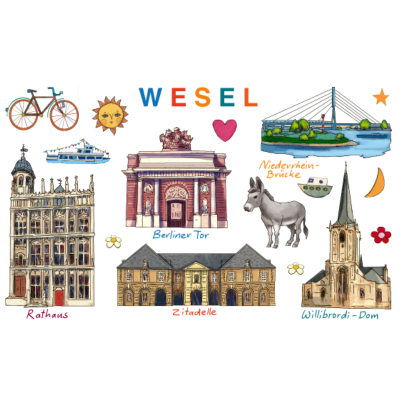 Wesel - Wesel Sehenswürdigkeiten - Willibordi-Dom,Wesel Esel,Wesel,Niederrhein-Brücke