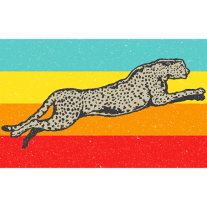 Retro Cheetah Vintage Gepard Wildnis Raubtier