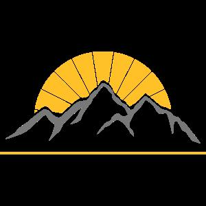Sonnige Berge Wander Geschenk Berg Idee